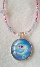 Swarovski Crystal  Baby Dory Pendant Glass Bead Pink Girls Necklace Handmade