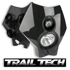 TrailTech x2 Dual Sport Halogen HeadLight Black MX Dirtbike Moto DOT Bultaco