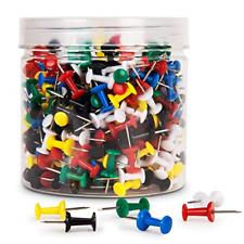 Betybedy Push Pins 400pcs Multi Color Map Thumb Tacks Plastic Marking Pins For