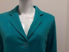 Ladies turquoise green teal Tulchan jacket blazer  -  size 12 (40)