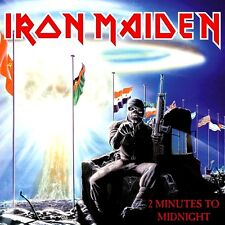 Iron Maiden - 2 Minutes To Midnight EP Vinyl LP Heavy Metal Sticker or Magnet