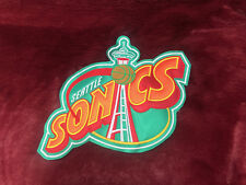 """Seattle Supersonics Old Logo Special Big Embroidered Patch (13""""x9"""")"""