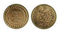 pcc1955_17)  Tunisia Tunisie - 5 centimes 1891 A