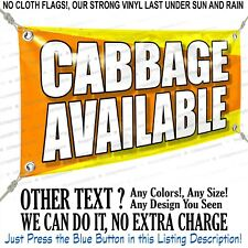 Cabbage Available Custom Vinyl Banner Personalized Outdoors Sign