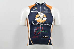 Verge Sorella Women's Small Sleeveless Cycling Jersey, Blue/Orange