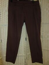 Size 16 brown check cotton trousers by La Redoute.