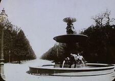 Fountain on Siegesallee, Berlin, Magic Lantern Glass Slide (German)
