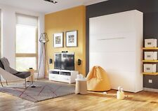 Lit Mural Lit Escamotable 140x200 avec Matelas Blanc Haute Brillance Express