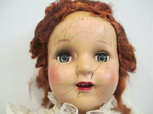 Vintage Composition Rubber & Cloth Doll by APEX For Parts, Repair, Halloween