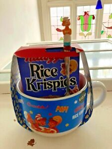 Vintage Style Ceramic Bowl & Rice Krispies Cereal Gift Set