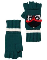 Kate Spade New York Gloves Who Me Owl Pop Top Knit Mittens NEW