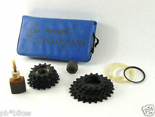 Cyclo Pans Freewheel kit remover 16 cogs & spacers Vintage Bicycle 6 speed NOS