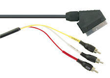 3 RCA Phono Plugs to Scart Plug Cable 1.5m Lead