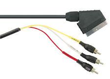 Scart Plug to 3 RCA Phono Plugs RGB Cable 1.5m Lead