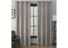 "54""x84"" Loha Linen Grommet Top Window Curtain Panel Pair-2 Blush Lavender New"