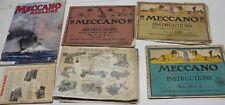 lot de très ancien catalogue jouet meccano France