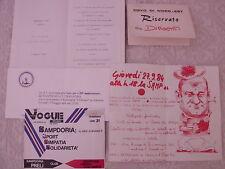 U.C. SAMPDORIA CALCIO ANNI '90 MISCELLANEA MENU INVITI BIGLIETTI BOSKOV VIALLI M
