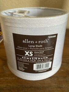 Allen+ Roth XS lamp Shade White 4.5x5.75x5