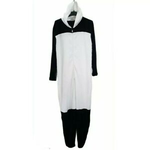 NEW Bioworld XXL 2XL Adult Panda Union Suit Black White Pajama Jumpsuit