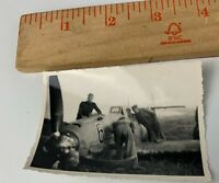 Orig. WWII Photo Luftwaffe German Fighter Plane Crashed TAKEN OFF GERMAN POW 3