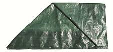 Green 6' x 8' polythene groundsheet camping tents cover sheet tarp tarpaulin
