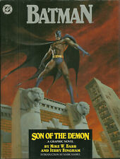 1st Edition - HARDCOVER Book - BATMAN: Son Of The Demon - DC - 1987 Mark Hamill