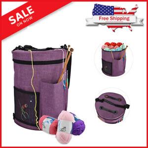 Large Capacity Knitting Yarn Storage Bag Crochet Tool Tote Organizer Holder Bag