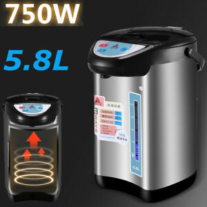 Thermo Pot Instant Hot Water Boiler Dispenser Tea/Coffee Kettle, 5.8 Litre 750W