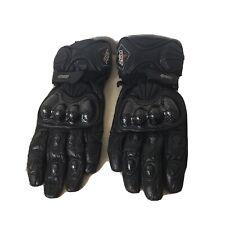 RST Motorcycle Motorbike Leather Gloves Protective Large 10 Black - Model:1570