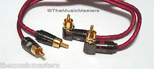 NAK Premium Metal Head 6' ft RCA Audio Cable Wire Gold Plated Male-Male Plugs
