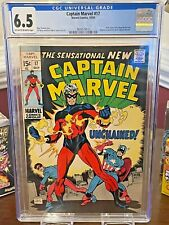 Marvel Comics, Captain Marvel #17 (Captain America Cover), 1969 CGC 6.5