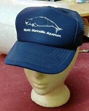 Vtg Mystic Marinelife Aquarium Mesh Trucker Snapback Hat - Manatee