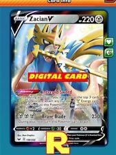 Zacian V - Regular Art - Pokemon TCG Online (DIGITAL ptcgo in Game Card)