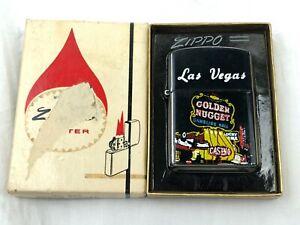 Vintage Las Vegas Golden Nugget Casino Lighter Promotional UNFIRED w/ Zippo Box