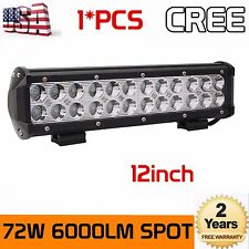 12INCH 72W CREE LED Work Light Bar Spot Lights Offroad Pickup Van ATV 12V 24V