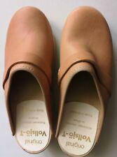 new Vollsjo womens genuine leather wooden clogs size 38  uk 5