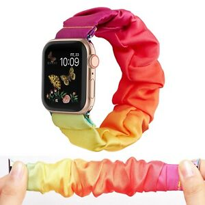 38/40mm 42/44mm Scrunchie Loop Band Strap For Apple iWatch Series 6 5 4 3 2 1 SE