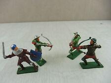 Lot de 4 petits soldats, Moyen Age, Starlux