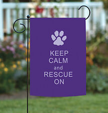 Toland Rescue On 12.5 x 18 Purple Pet Kitty Cat Puppy Dog Paw Print Garden Flag