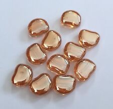 20 pcs 15mm Glass Beads Bead Jewelry Making Light Gold Findings Crystal 44G