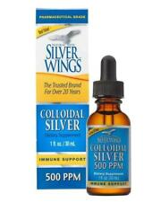 Natural Path Silver Wings Colloidal Silver 500 Ppm 1 oz Dropper