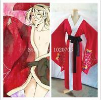 Black Butler Ciel Phantomhive Alois Trancy Red kimono Cosplay Costume F008