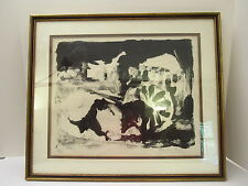 L/ED 9/50 SERIGRAPH PRINT -CIRILO MARTINEZ NOVILLO- CASTILIAN ABSTRACT FARM CART