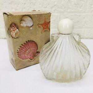 VTG‼ Avon Sea Legend Sonnet Foaming Bath Oil Decanter Shell Bottle w/ Box •VGUC‼
