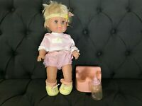 1989 Ideal Nursery Betsy Wetsy Potty Training Baby Doll With Outfit Headband Toy