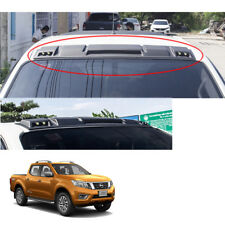 Front Gap Roof Spoiler LEDs Matte Black For Nissan NP300 Navara 2014 - 2017