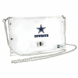 Dallas Cowboys Clear Envelope Purse, NFL Crossbody Stadium Approved