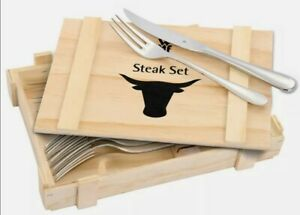 WMF Nuova  Steakbesteck-Set 12-teilig, Edelstahl. Ohne Originalverpackung,