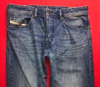Mens DIESEL Waykee Jeans W32 L28 Blue Regular Straight Wash 0663D