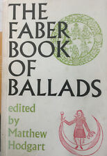 The Faber Book Of Ballads Matthew Hodgart 1965 Collectible Edition